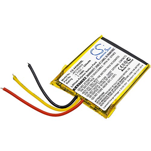 CS-AKN600SL Batteria 320mAh compatibile con [AKG] N60 NC sostituisce AEC402933