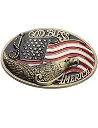 Baoblaze Boucles de ceinture Classique Style de Western Cowboy Motif pour  Homme 668964d46e6