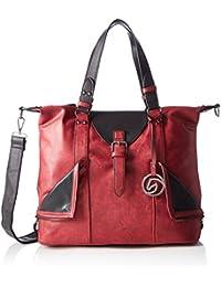 Q0417, Womens Backpack Handbag, Schwarz (Black), 360x410x170 cm (wxhxd) Remonte