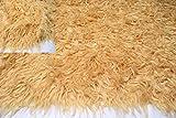 Fabrics-City GOLDBEIGE STRETCH LANGHAAR FELL FELLIMITAT WEICH LEICHT 7-8CM STOFF, 4469