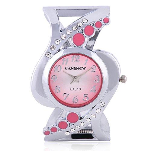 SSITG Damenuhr Armbanduhr Spangenuhr Strass Quarzuhr Analog Armreif Uhr gold silber Geschenk Gift Armbanduhr watch