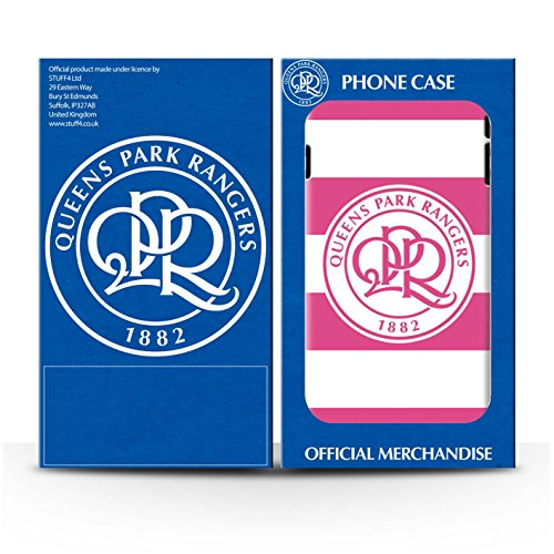 Officiel Queens Park Rangers FC Coque / Etui Gel TPU pour Apple iPhone X/10 / Rose Vif Design / QPR Crête Club Football Collection Hoops/Rose Vif