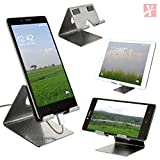 #8: YT Mobile Phone Metal Stand / Holder For Smartphones and Tablet - Antique Silver (Proudly MADE IN INDIA)