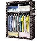 Tragbarer Schrank Schlafzimmer Lagerung Falten Stoff Kombination Kleiderschrank Kabinett Sparen Sie Platz Kabinett 105 * 45 * 170 cm (Color : Black)