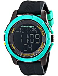 amazon co uk style watches style men s 10017006 kampus xl digital black and teal watch