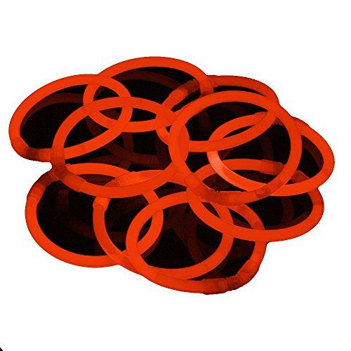 100 Stück Premium Glowhouse Glow Stick Armbänder orange