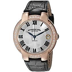Raymond Weil Jasmine Automatic Rose Gold Steel & Diamond Womens Watch Date 2935-PCS-01659