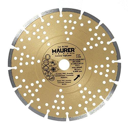 MAURER 9012010 DISCO DIAMANTE MAURER SEGMENTADO LASER GRANITO 230 MM