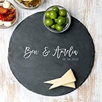 Personalised Slate Chopping Board/Personalised Cheese Board/Personalised Wedding Gifts For Bride And Groom/Personalised Housewarming Gifts For Couples