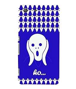 printtech Ghost Exclaim Horror Back Case Cover for Sony Xperia M5 Dual E5633 E5643 E5663:: Sony Xperia M5 E5603 E5606 E5653
