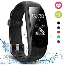 moreFit Slim Touch Wasserdicht Fitness Tracker Mit Herzfrequenz,Smart Fitness Armbanduhr Pulsuhr Schrittz?hler,Bluetooth Schwimmen Activity Tracker Gps F¨¹r Damen/Herren