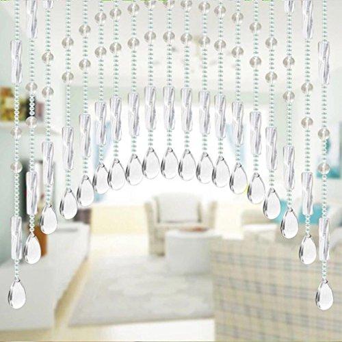 Curtain Tüllvorhang HKFV Teardrop kristall Schmuckanhänger Anhänger Glass Glasperle Chandelier Crystal für Hochzeit House Office Dekoration Kristallglas Perlen Vorhang Dekor (B) (Vorhänge Teardrop)