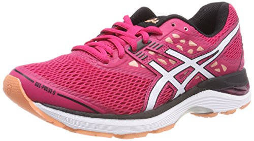 Asics Gel-Pulse 9, Scarpe Running Donna, Rosa (Bright Rose/White/Black 2101), 39.5 EU