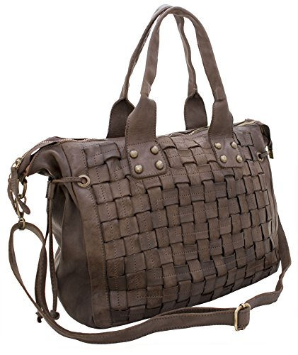 VERA LEDER HANDTASCHE VERIANA Dark Brown