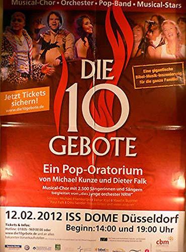 Die 10 Gebote - Düsseldorf 2012 Konzert-Poster A1