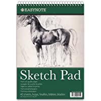 Tallon EasyNote A3/A4/A5 Sketch Artist Pad - Premium Quality 20/40/60 Pages of 170g Paper - For Drawing/Sketing - Fruits OR Horse Desing
