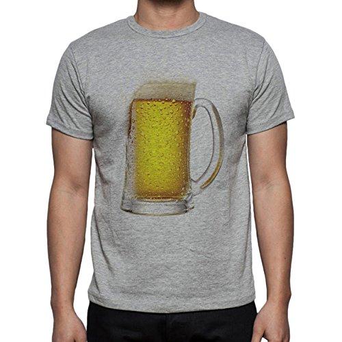 Beer Drink Oktoberfest Glass Cold Herren T-Shirt Grau