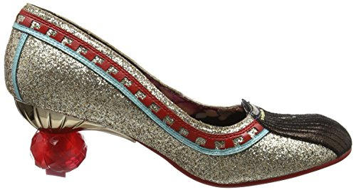 Irregular Choice Damen Cleopatra Pumps Goldfarben