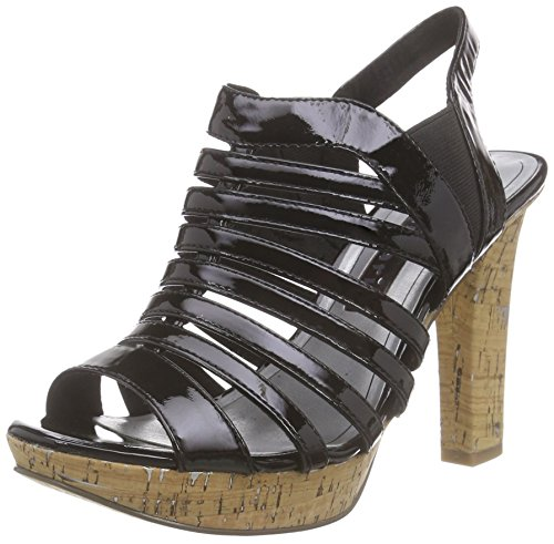 Tamaris28335 - Sandali Donna Nero (Nero (Black Patent 018))