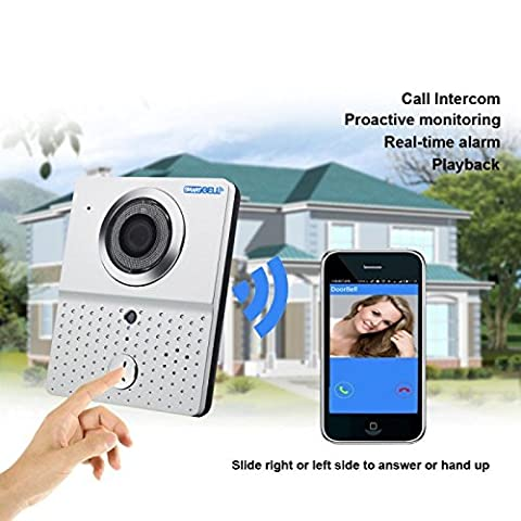 Lelec Wireless Wifi Door Bell Camera INTERCOM Detection Smartphone Control Security