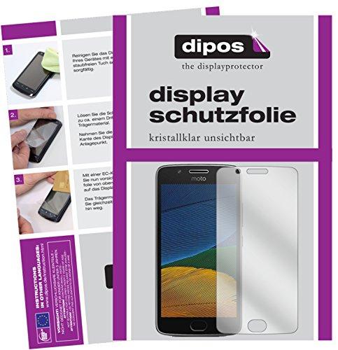 dipos I 6X Schutzfolie klar passend für Motorola Moto G5 Plus Folie Bildschirmschutzfolie