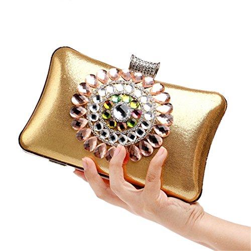 Damen M gold gold Flada Clutch gold dxtqI1