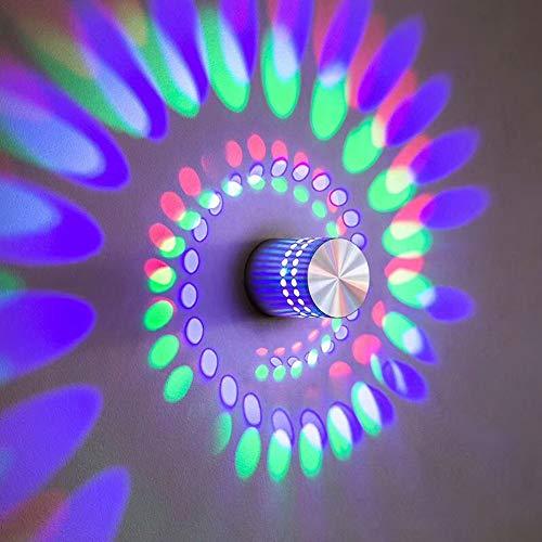 Einfache kreative Wandlampe, geführte Aluminiumscheinwerferwandlampe, Korridorlampe, Hintergrundwanddekorationslampenspiralen-Lampenportal-concealedinstallation1