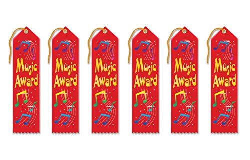 Beistle ar062Music Awards Bänder, 2von 20,3cm, 6er Pack