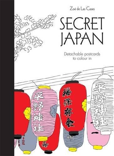 Secret Japan Postcards (Colouring for Mindfulness)