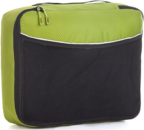 Packwürfel Kleidertaschen Packing cubes Koffertaschen für angenehmes Reisen und aufgeräumte Koffer -Große und mittelgroße Taschen zum Schutz und zur Komprimierung von vielen Kleidungsstücken, Schuhen  Med-Green