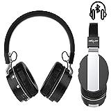 Handy Wireless Kopfhörer | für ALDI Medion Life E4506 | Bluetooth, TF Card Support | Kabellos Stereo Headset | Kopfhörer ZB17 Schwarz