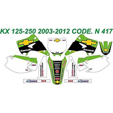 N 417 KAWASAKI KX 125-250 GRAPHICS KIT MODELLO 2003-2012