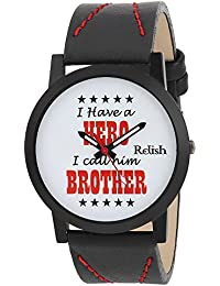 RELISH RE-S8079BB Black Slim Analog Watch For Boys And Mens