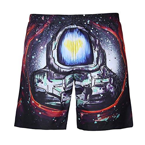 Badehose Herren Neuheit Kreativität Drucken Sommerhosen Kurze Mode Casual Sommer Strand Sports Shorts Strandhosen - Neuheit Drucken Kurze