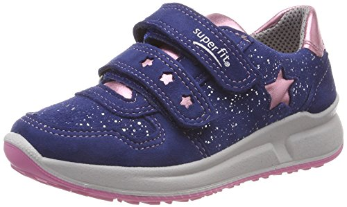 Superfit Mädchen Merida Sneaker, (Blau/Rosa 80), 33 EU