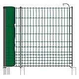 Filet volaille premium VOSS.farming farmNET+ 50 m H : 112 cm 20 piquets double pointe clôture électrique