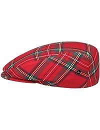Lierys Tartan Schottenkaro Flatcap Schirmmütze für Damen und Herren Schirmmütze Schiebermütze Wintercap mit Schirm, mit Futter Winter Sommer