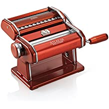 Marcato 08 0163 14 00 Atlas 150 Wellness - Máquina para pasta modelo original italiano, color rojo
