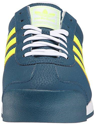 Adidas Samoa Leder Turnschuhe Mineral Blue/Yellow/White