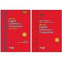 High School English Grammar & Composition Book (Multicolour Edition) + Key to Wren & Martin (Set of 2 books)