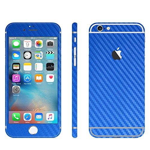 IPHONE 6 / 6S BLAU CARBON FOLIE SKIN ZUM AUFKLEBEN bumper case cover schutzhülle i phone
