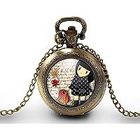 c35cd64051a1 Collar de reloj de bolsillo - cabochon -