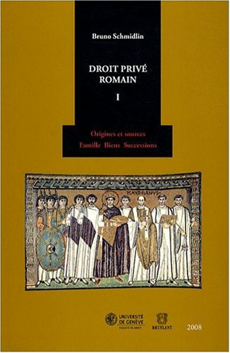 Droit privé romain I