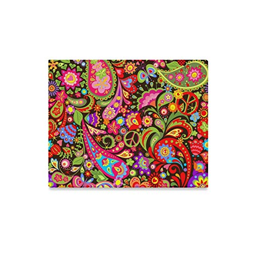 Arte de la pared Pintura Hippie Vivid Papel tapiz decorativo Flores co