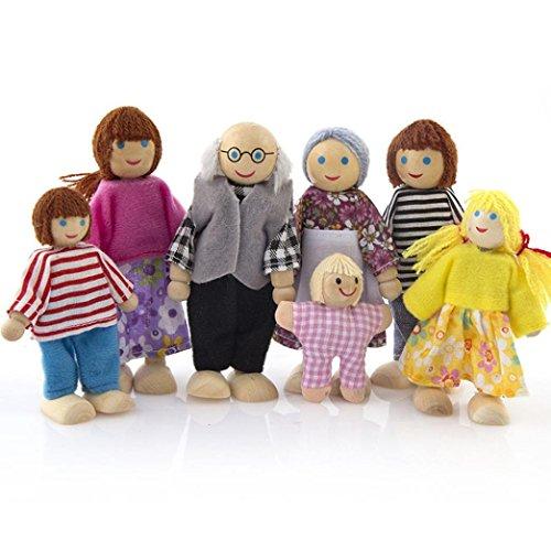 Momola Maison de famille miniature 7 personnes Set poupée...