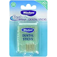 Sabiduría Fresh Efecto Dental wood-count, pack de 4, 400-count