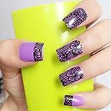 Arte de uñas: Calcomanías y autoadherentes Calcomanía Transferible con Agua HBJY018 Pegatina Tatuaje para Uñas Nail Sticker - FashionLife