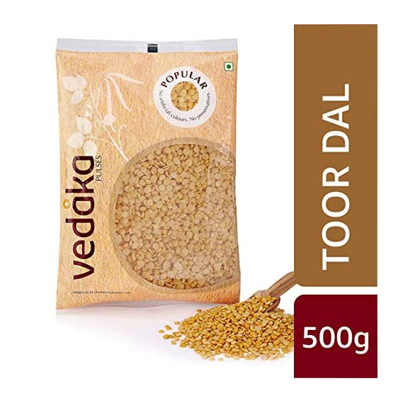 Amazon Brand - Vedaka Popular Toor/Arhar Dal, 500g