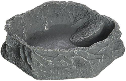 JBL 71072 Futter, Trink und Badenapf für Terrarientiere, ReptilBar, M, grau