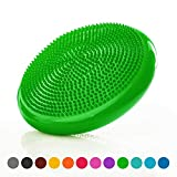 #9: Balance cushion (Ø 33cm) including– air-filled wobble cushion for balance training – suitable for people of all sizes – skin-friendly, non-slip and durable – space-saving alternative to gym ball – air stability Wobble Board, Wobble Cushion, Posture Trainer, Balance Board / for improving posture, supports muscle, physical therapy, rehabilitation, core stability training - suitable for Men and Women, available in different Colours.